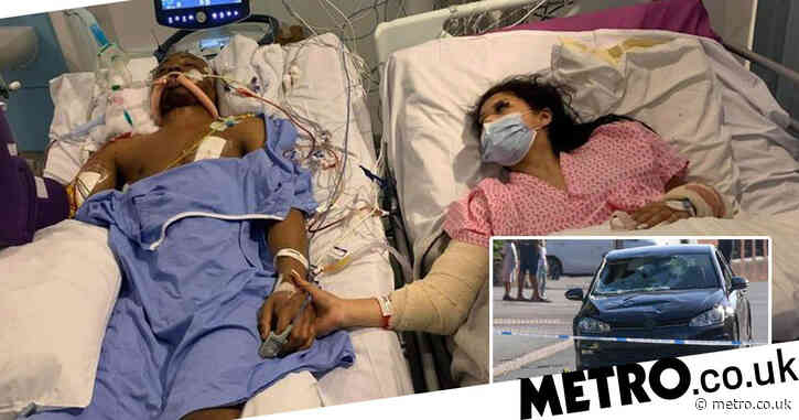 Man dies after e-scooter crash as girlfriend pictured holding his hand