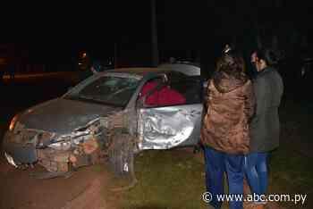 Dos heridos en un accidente con suerte en Abaí - Nacionales - ABC Color