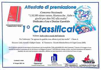 """Capri Leone, la scuola materna vince il premio nazionale """"1,10100 ninne nanne... per dire no ala mafia"""" - AMnotizie.it - Quotidiano di informazione - AMnotizie.it"""