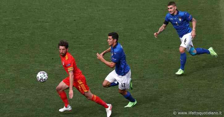 Italia-Galles 1-0, rosso per Ampadu: gli azzurri ora anche in superiorità numerica – diretta