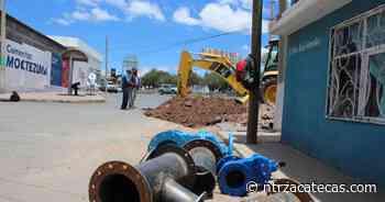 Instala Jiapaz nueva tubería para abastecer al centro de Guadalupe - NTR Zacatecas .com