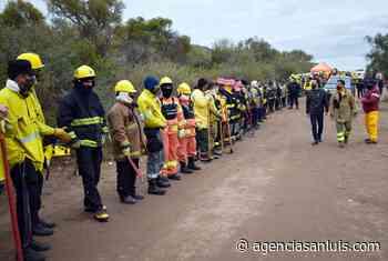 Búsqueda de Guadalupe: Anastasi visitó el comando de operaciones de bomberos voluntarios y el Ejército se sumó a los rastreos con drones - Agencia de Noticias San Luis