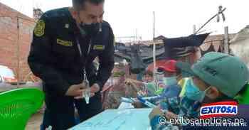 Lambayeque: Policías dictan clases a niños de extrema pobreza - exitosanoticias