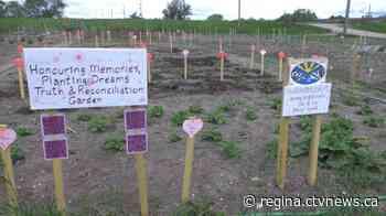 Regina family plants garden honouring victims of Regina residential school - CTV News