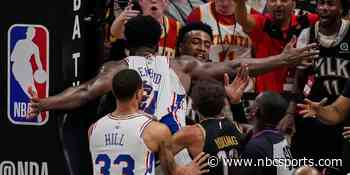 Embiid fined for altercation with Collins, Fernando suspended for Game 7 - NBC Sports