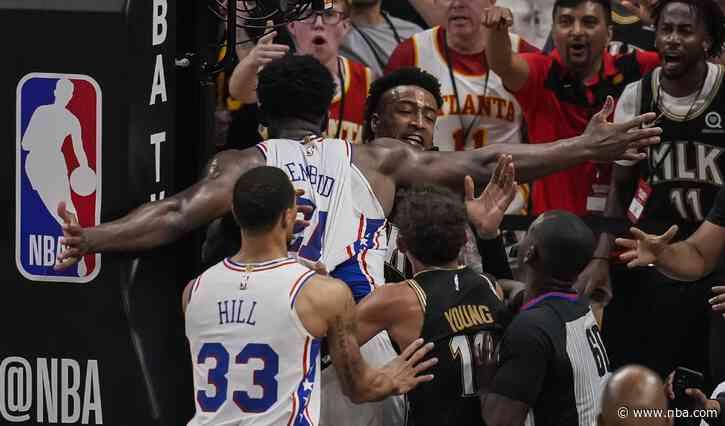 Hawks center Bruno Fernando suspended 1 game; Joel Embiid, John Collins fined - NBA.com