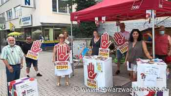 Aktionsstand in Schwenningen - Gewerkschaft setzt sich für eine Mietpreisbremse ein - Schwarzwälder Bote