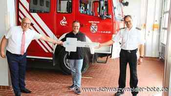 Feuerwehr in Tuningen - Feuertaufe bei der Einweihung - Schwarzwälder Bote