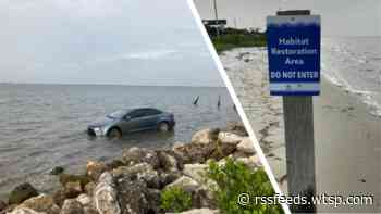 Don't do this: Illegally-parked car gets swamped