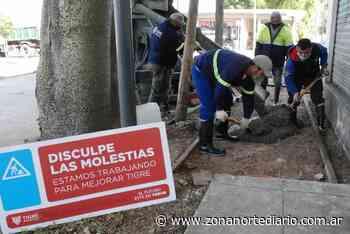 En Ricardo Rojas, el Municipio de Tigre avanza con la construcción de veredas vecinales - Zona Norte Diario Online