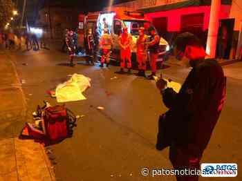 Homem morre ao ser atropelado por moto em Patos de Minas - Patos Notícias