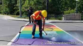 Mayor calls vandalism of Pride crosswalk 'cowardly act' - Kincardine News