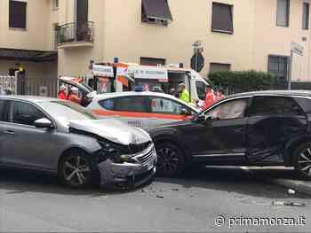 Impatto all'incrocio Incidente a Seregno, coinvolti anche due bambini - Prima Monza