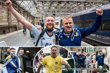 Tartan Army fans flood back to Scotland in high spirits after England draw... - The Scottish Sun