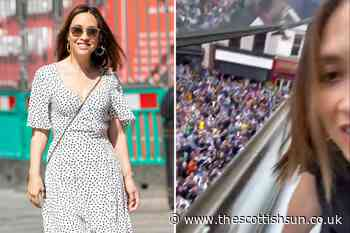 Myleene Klass in stitches as Scotland fans chant 'get your t*ts out' in London... - The Scottish Sun