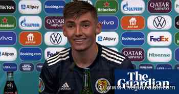 Billy Gilmour: last-minute text to parents let them know of Scotland role – video - The Guardian