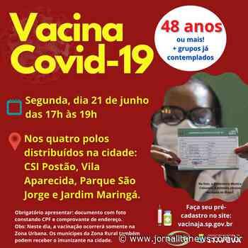 Itapeva vacinará munícipes a partir de 48 anos nesta segunda-feira, dia 21 - Jornal Ita News