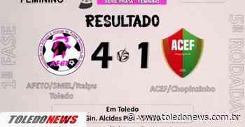 Afeto Futsal vence pelo Campeonato Paranaense Chave Prata Feminino - Toledo News