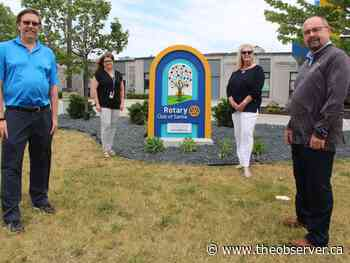 Sign recognizes Rotary Club of Sarnia's connection to Pathways - Sarnia Observer