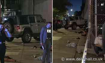 Jeep Jumps Curb, Slams Into 6 Pedestrians on NYC Sidewalk: Police