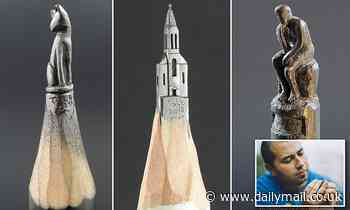 Drawing the crowds to a UK museum, the mini masterpieces carved from graphite