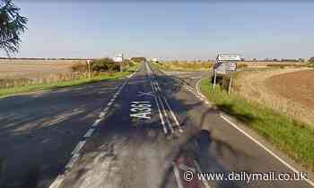 Woman, 33, is killed and two adults and a child are injured in crash