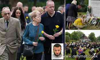 Family and friends of the three men killed in Reading terror attack take part in a memorial service
