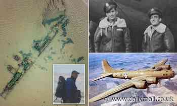 Pictured: man wanted by police after looter stripped WWII US Flying Fortress