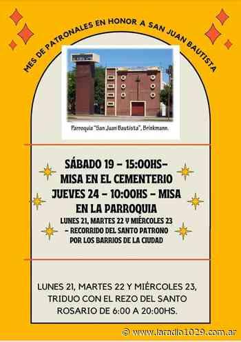 Patronales en Brinkmann - La imagén de San Juan Bautista recorrerá los barrios - La Radio