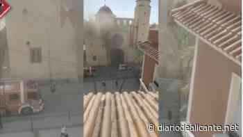 Incendio en la sacristía de la Parroquia de San Juan Bautista de Elche - Diario de Alicante