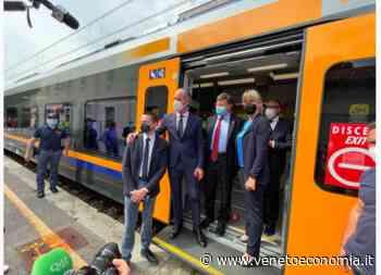 Inaugurata la linea ferroviaria elettrica Belluno-Conegliano. Zaia: «Novità assoluta» - VenetoEconomia - Venetoeconomia