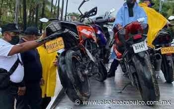 Más de 70 motocicletas fueron remitidas al corralón en Acapulco - El Sol de Acapulco