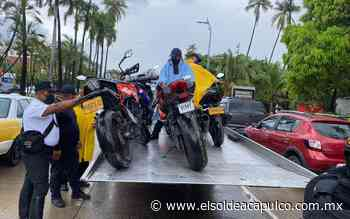 Continúa decomiso de motocicletas en Acapulco - El Sol de Acapulco