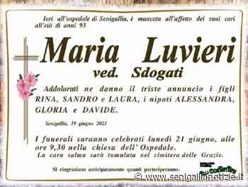 Si è spenta a Senigallia Maria Luvieri - Senigallia Notizie