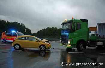 POL-COE: Nottuln, B525/Lkw und Auto zusammengestoßen - Presseportal.de