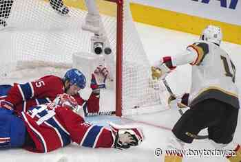 Roy's OT goal, Lehner's strong showing the difference as Vegas evens series with Habs