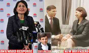 The moment an embarrassed Gladys Berejiklian dodges questions about new boyfriend Arthur Moses