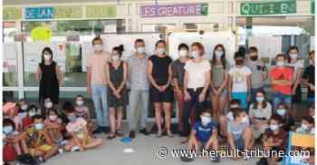 Marseillan : présentation de « Fleur de Thau » par les élèves de l'école ML Dumas - Hérault-Tribune