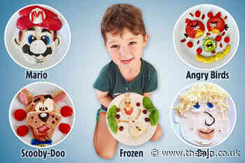 Mum tricks son into eating fresh food by presenting plates of food to look cartoon characters... - The Sun
