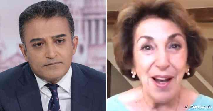 'Calm down!': Edwina Currie tells Adil Ray he's 'turning into Piers Morgan' in explosive debate on foreign doctors