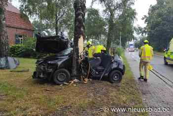 Twee zwaargewonden na klap tegen boom in Kleine-Brogel