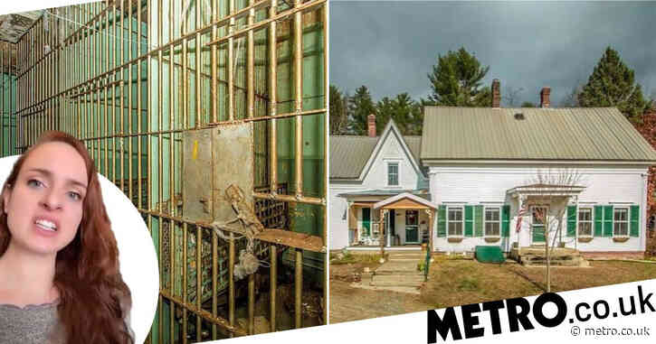 Woman surprised by ordinary looking home with a prison in the basement