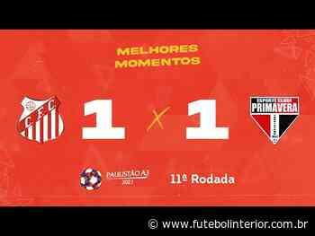 Capivariano 1 x 1 Primavera – Ninguém saiu vencedor em Porto Feliz - Futebolinterior