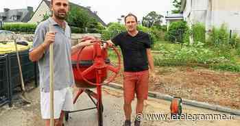 Matinée travaux pour une poignée de parents à Saint-Aubin, à Pont-Scorff - Le Télégramme