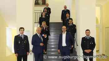 Innenminister Herrmann dankt derFeuerwehr Denklingen
