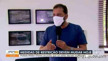 Decreto proibindo shows e eventos em Porto Velho deve sair na segunda, 21, diz prefeito Hildon - G1