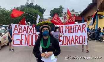 Manifestantes fazem o Fora Bolsonaro em Porto Velho - Tudo Rondônia