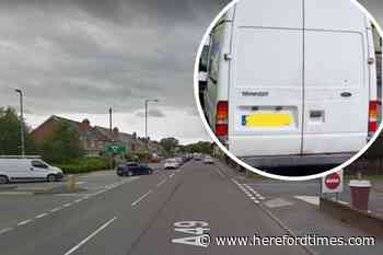 Transit van driver caught with drugs in Hereford