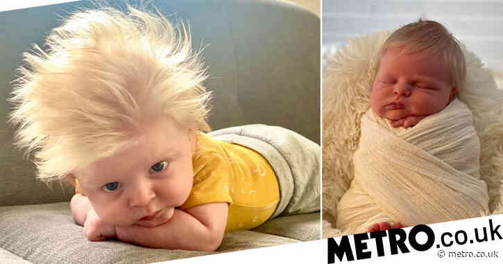 Baby born with full head of blond hair looks like a mini Boris Johnson