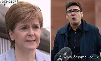 'Hypocrite' Nicola Sturgeon savages Andy Burnham amid row over Scotland's Manchester travel ban